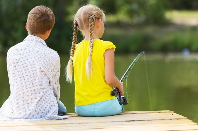 Kids fishing day in Cassville, MO