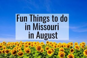 Fun Things to do in Missouri in August