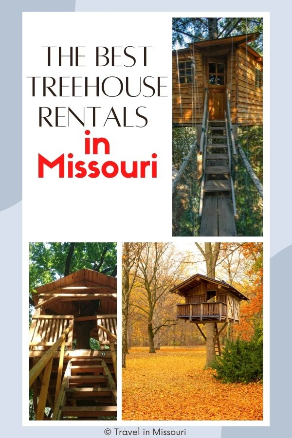 Treehouses in Missouri are the perfect getaway if you're looking for a place to unwind and connect to nature. The Best treehouse rentals Missouri has to offer!