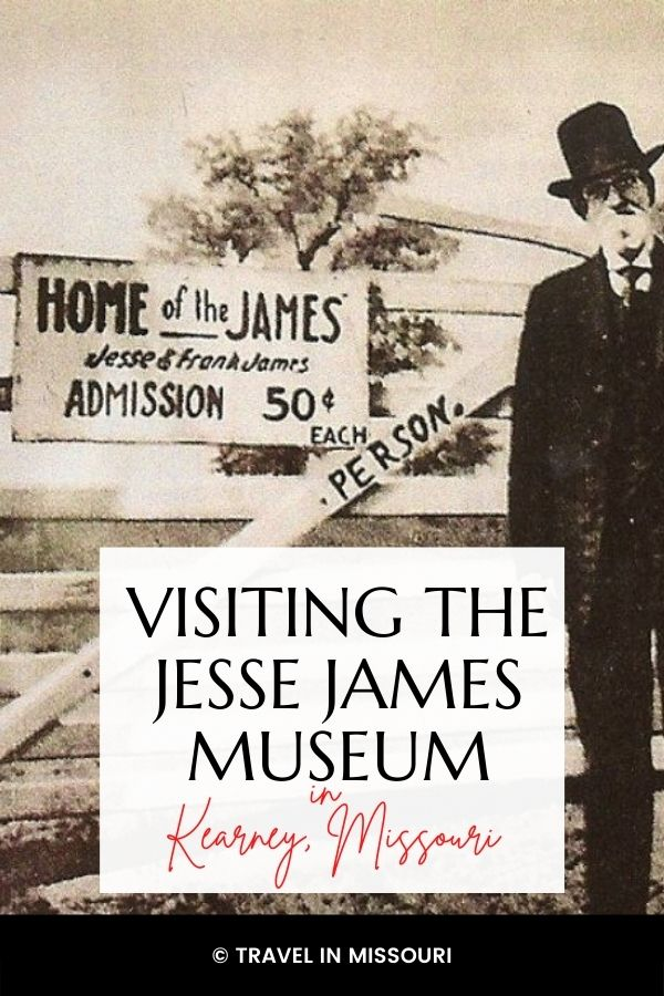 Visiting The Jesse James Museum In Kearney, MO. Jesse James was a real person, who was born and raised in Missouri and fought in the Civil War, and later became one of the most feared and most wanted outlaws on the American frontier in the mid to late 1800's.