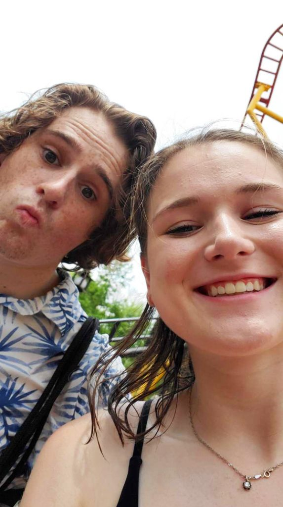 Roland and Kailey at Worlds of Fun in Kansas City, Missouri