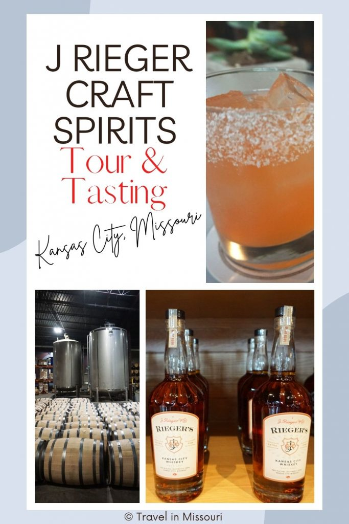 A first-time visit to the J Rieger & Co. distillery should include a tour and tasting, a visit to the museum, going to the Monogram Lounge for a cocktail and food and then  a ride down the slide!