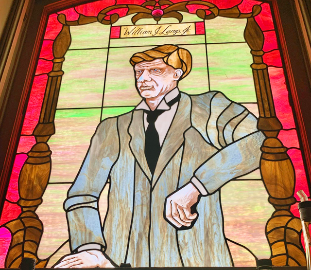 William Lemp stained glass at Lemp Mansion