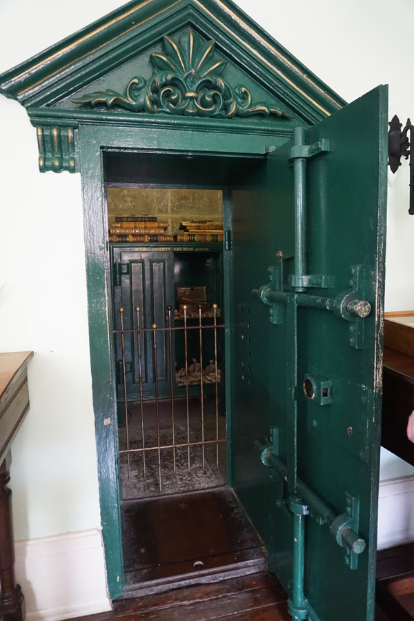 Vault and safe at museum