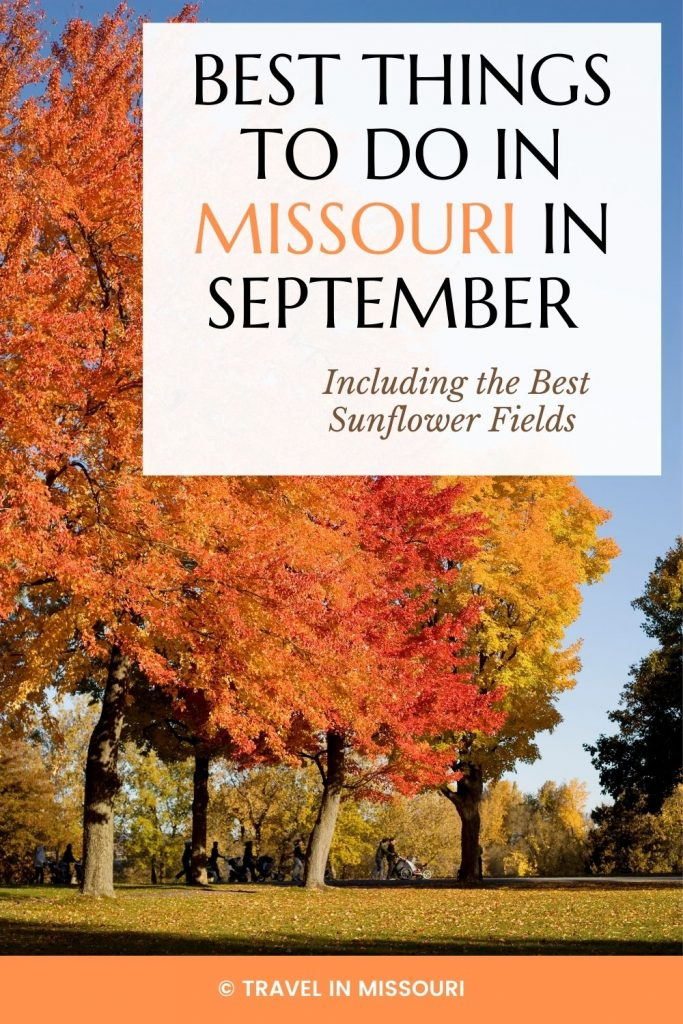 12 best festivals and events in Missouri in September. We've also included our favorite sunflower fields. The is the best list of what to do in Missouri in September!